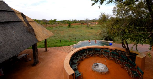 Pool and Lapa area overlooking Waterhole